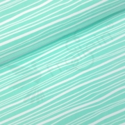 Organic Cotton Jersey - Wavy Stripes - Mint
