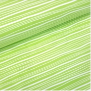 Organic Cotton Jersey - Wavy Stripes - Kiwi Green