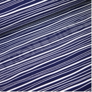 Organic Cotton Jersey - Wavy Stripes - Navy