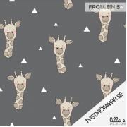 Organic Cotton Jersey - Giraffe-Gray