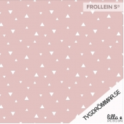 Organic Cotton Jersey - Triangles-Rose