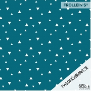 Organic Cotton Jersey - Triangles-Teal