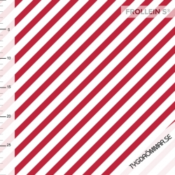 Organic Cotton Jersey -Diagonal  Stripes-Red