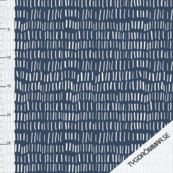 Organic French Terry - Lines-blue