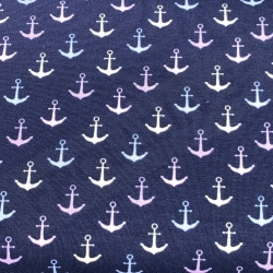 Cotton Jersey - Color Changing - Anchors
