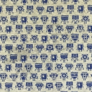 Cotton Jersey - Groovy Robots-Blue