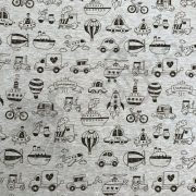 Cotton Jersey - Transportation - Black