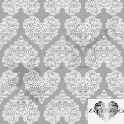 Organic Cotton Jersey -  Diamond Hearts - Gray