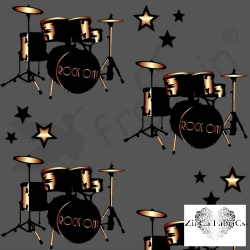 Organic Cotton Jersey - Drums