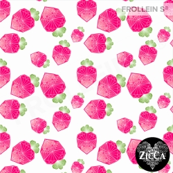 Organic Cotton Jersey - Diamond Strawberries