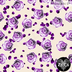 Organic Cotton Jersey - Roses-Purple
