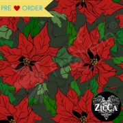 Organic Cotton Jersey - Poinsettia