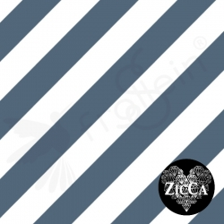 Organic Cotton Jersey - Diagonal Stripes-China Blue