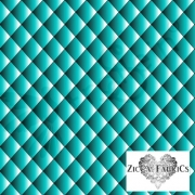 Organic Cotton Jersey - Quilt Illusion - Turquoise