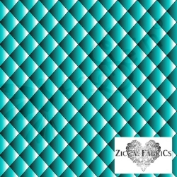 Organic Cotton Jersey - Quilt Illusion - Teal