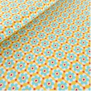 Woven Cotton - Daisy Love - Yellow