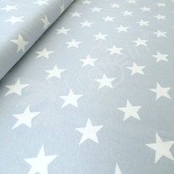 Cotton Jersey - Big Stars - Light Blue