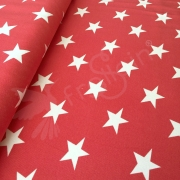 Cotton Jersey - Big Stars - Red