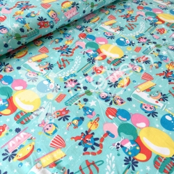 Cotton Jersey - Cosmic Party - Aqua