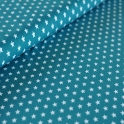 Cotton Jersey - Small Stars - Teal