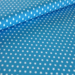 Cotton Jersey - Small Stars - Turquoise