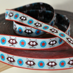 Woven Ribbon -Mr. Fox -Turquoise