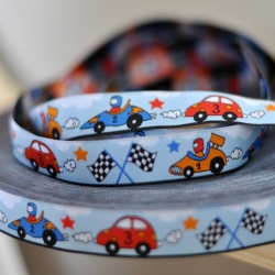 Woven Ribbon - Race Cars