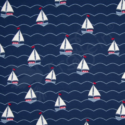 4dc73a307a87 Cotton Jersey - Maritime - Anchors
